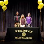 Irmo has three student athletes sign athletic scholarships!