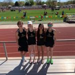 Girls Varsity Track finishes 3rd place at Canon City Blossom Invite @ Canon City High School