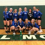 Ionia High School Girls Varsity Volleyball ties Central Montcalm High School 5-5