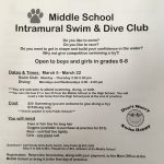 Middle School Swim Club Begins March 5th