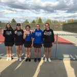 Girls Varsity Tennis finishes 3rd place at CAAC White Division League Meet