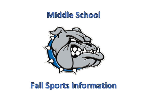 Middle School Fall Sports Infomation