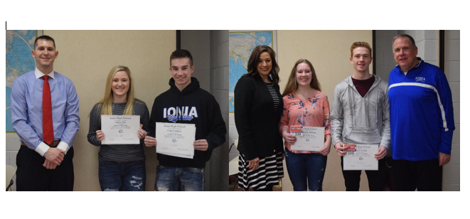 January and February Independent Bank Athletes of the Month