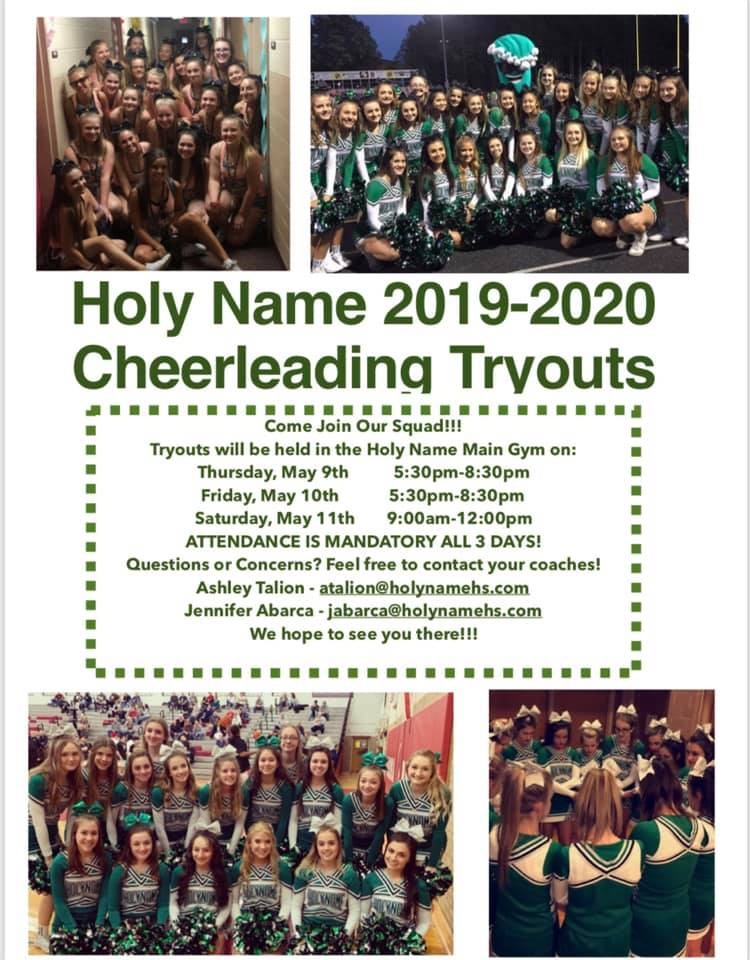 Cheerleading Tryouts for 2019-20