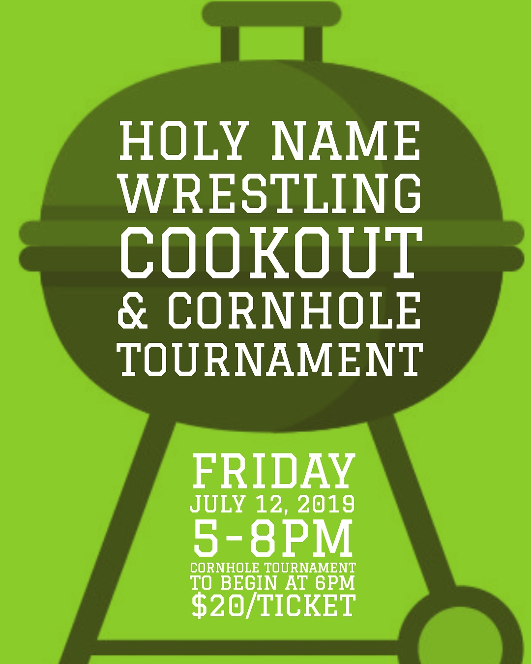 Wrestling Cookout and Cornhole Tournament Set for July 12