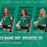 Girls Varsity Volleyball beats Buckeye Local Schools (Medina) 3 – 0