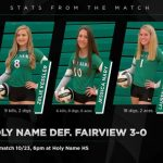 Girls Varsity Volleyball beats Fairview 3 – 0