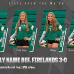 Girls Varsity Volleyball beats Firelands Local Schools 3 – 0