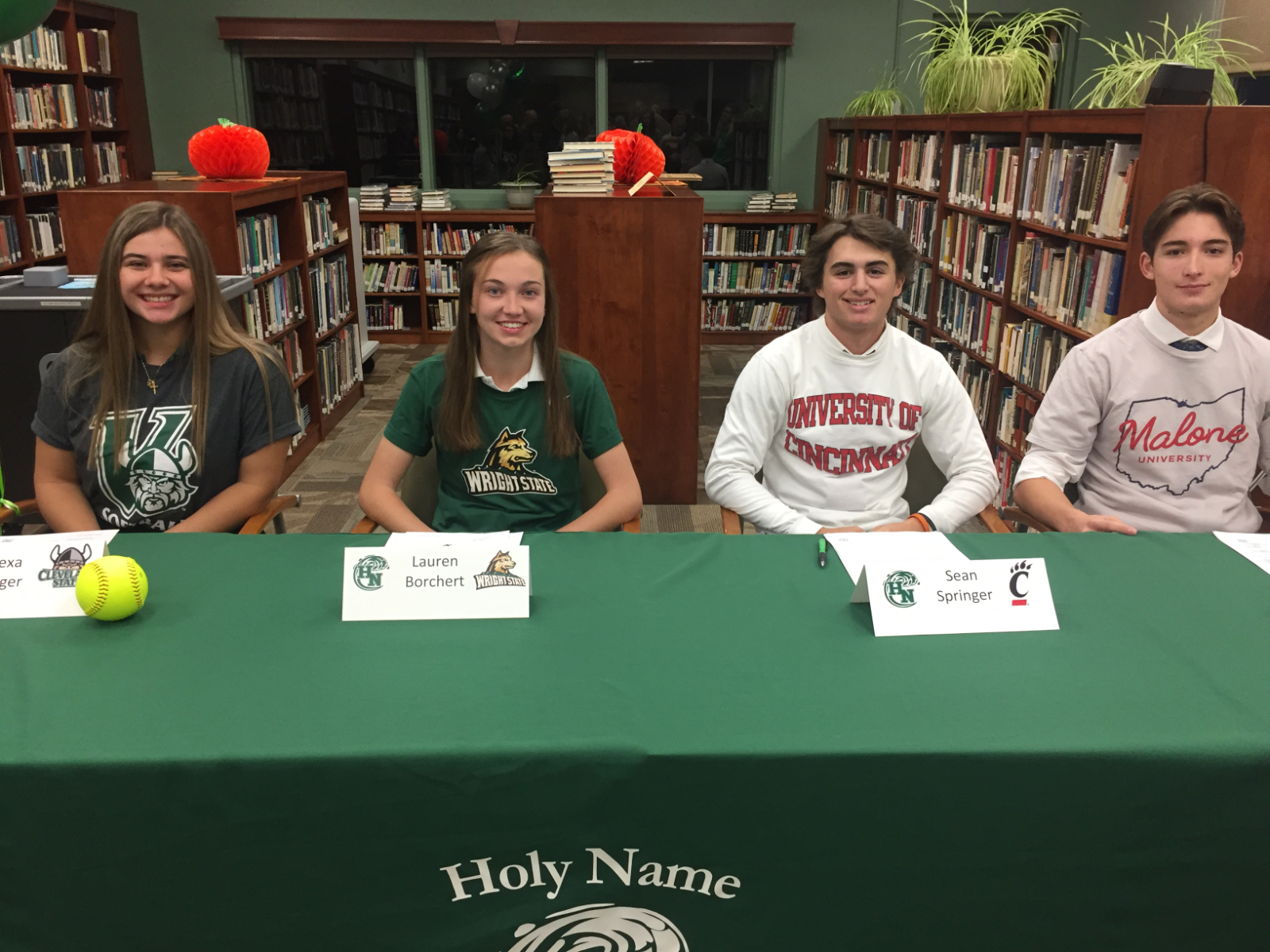 Four Seniors Announce College Athletic Commitments