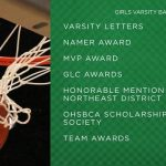 Varsity Awards – Girls Basketball (Winter 19-20)