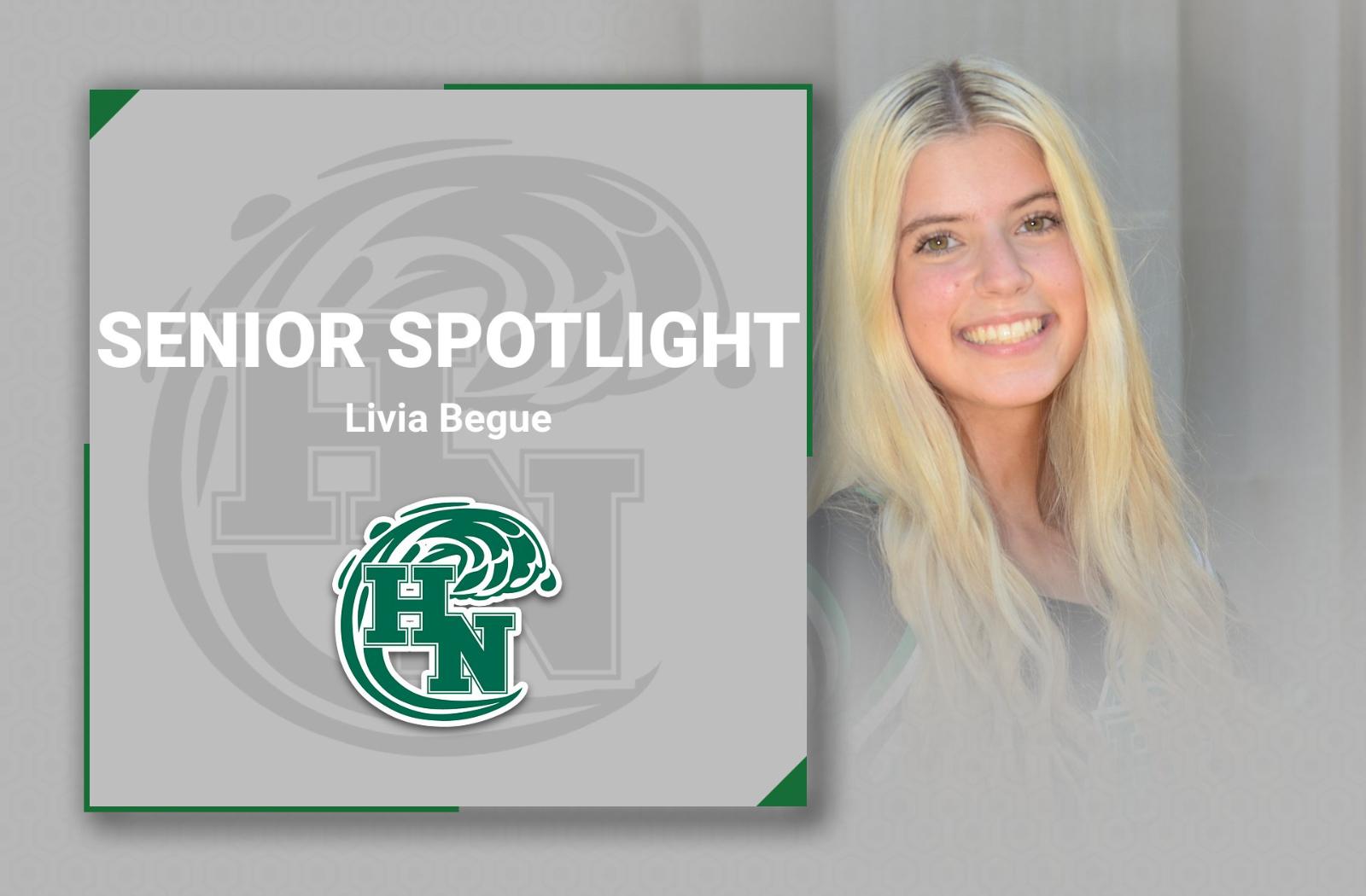 Senior Spotlight -Livia Begue