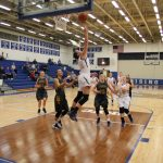 Trinity Lutheran over the Lady Shiners