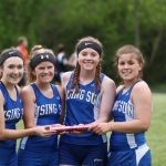 Rising Sun Girl's Track at Conference finish 4th