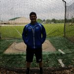 Derrick Eldridge throws discus at Boy's Track Regionals