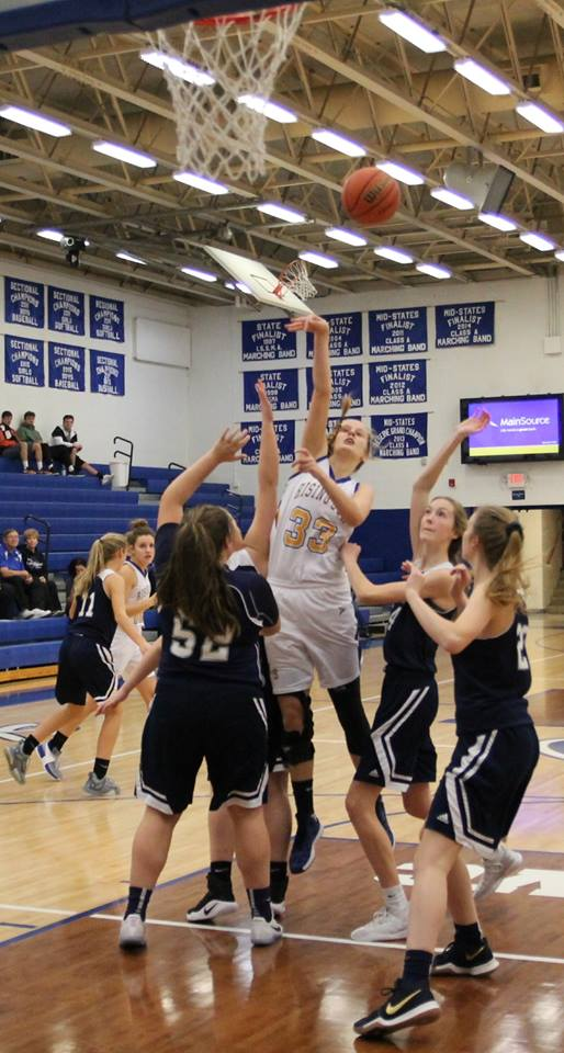 Rising Sun Lady Shiners battle Oldenburg