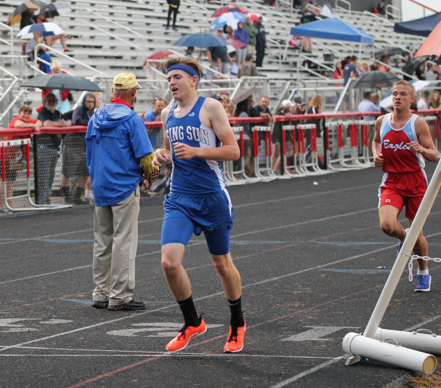 Rising Sun Boy's Track at the 2018 Track Sectionals at East Central