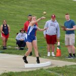 RSHS Girls Track at South Dearborn Invitational 4-18-2019