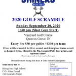 Basketball Golf Outing Sunday 9/20 at 1:30