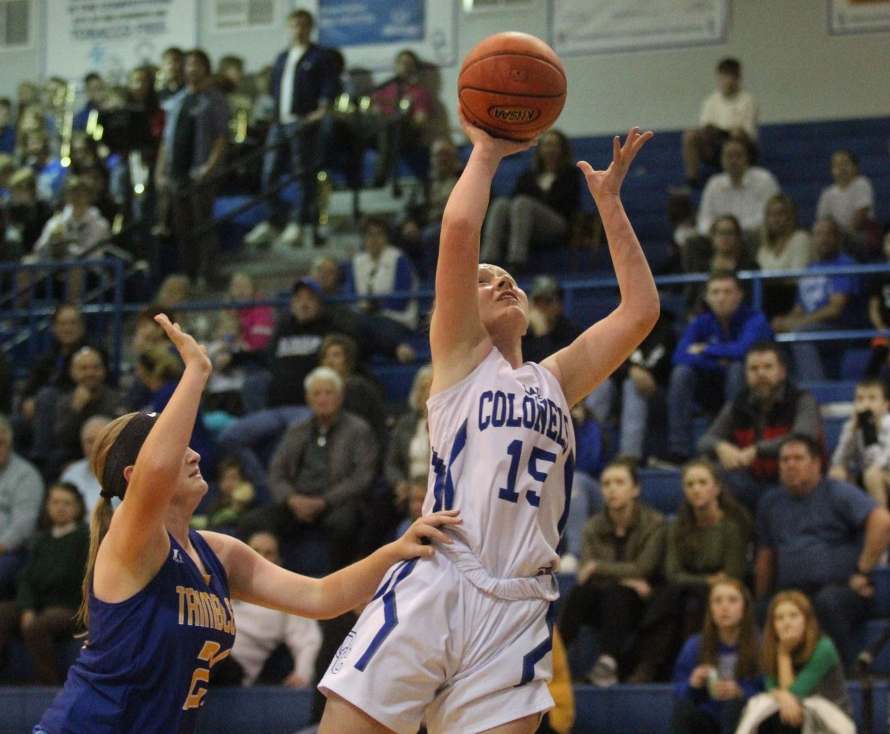 Clark Joins the Lady Colonels 1,000 point club.