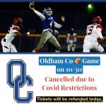 10/30 Game v Great Crossing is Cancelled
