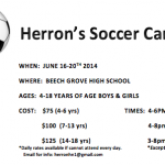 Herron's Youth Soccer Camp