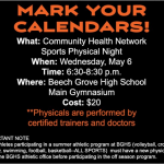Sports Physical Night May 6th