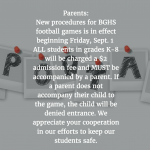 New Procedures for Home Football Games