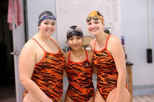 Senior Night Swimming