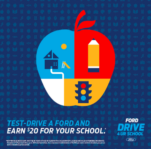Support our Marching Band by Driving a Ford!