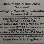 Wrestling Reverse Raffle Nov. 18th
