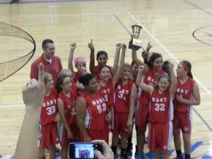 MS Girls Basketball Are Conference Champs!