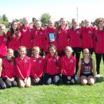 Girls Varsity Cross Country finishes 1st place at Cougar Falcon Invite