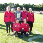Girls Varsity Cross Country finishes 1st place at Allendale Falcon Invite