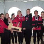 Girls Varsity Cross Country finishes 1st place at Manistee National Invitational