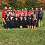Girls Varsity Cross Country finishes 1st place at Mel Hall Invitational