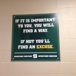 New Motivational Signs by Locker Rooms