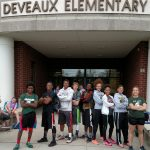 Start Track Athletes Volunteer at the DeVeaux Girls on the Run Practice 5K