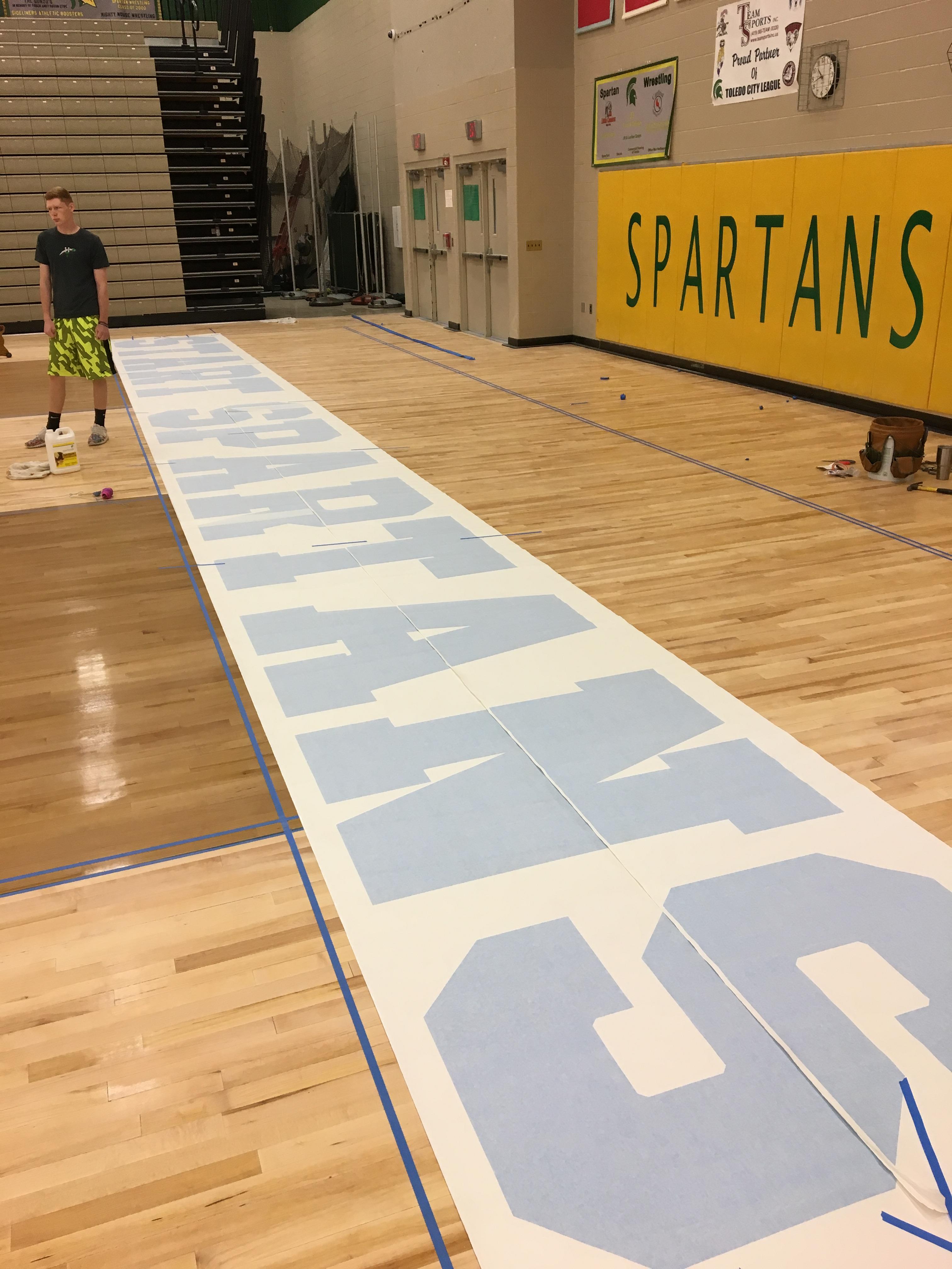 Main Gym Floor Taking Shape