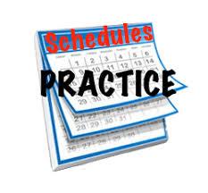 November 18 – December 14 Practice Schedule