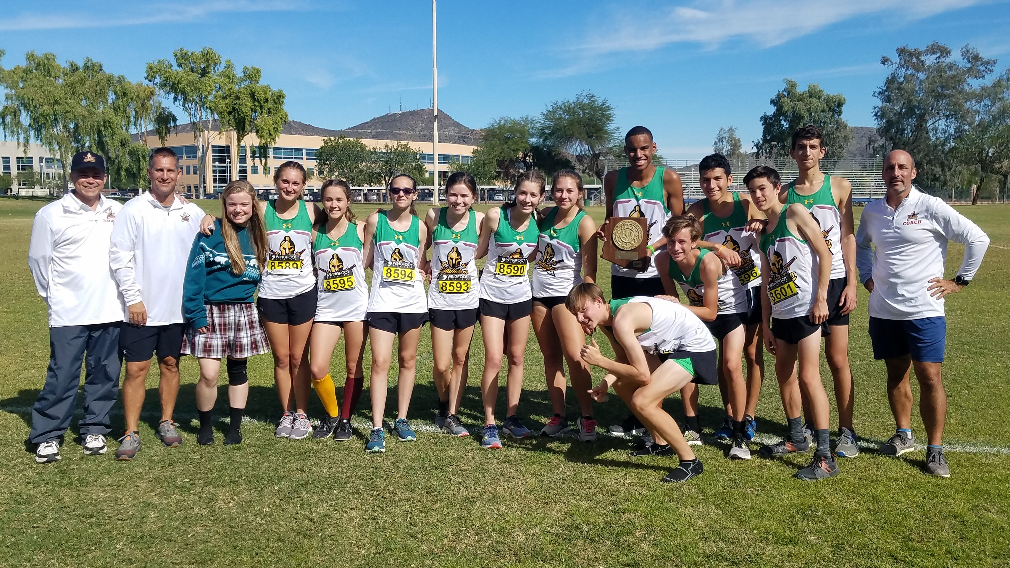 Gladiators XC Advance to State – Boys Win Sectionals