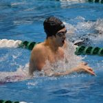 Ace Eaton Breaks School Record in 100 Breaststroke