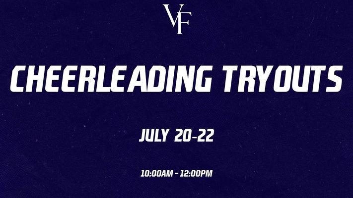 Cheerleading Tryouts – July 20-22
