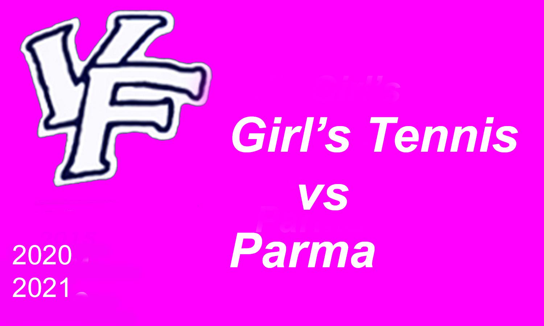 Girls Tennis Action Pics vs Parma