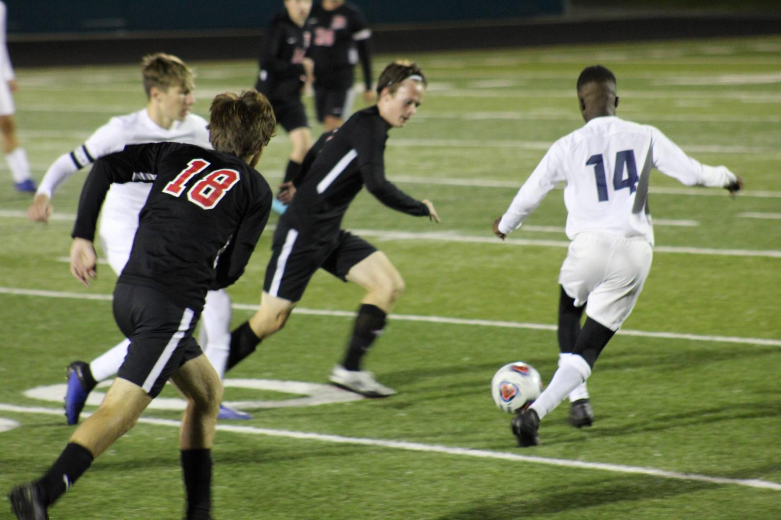 Varsity Boys Soccer Action Pics vs Parma