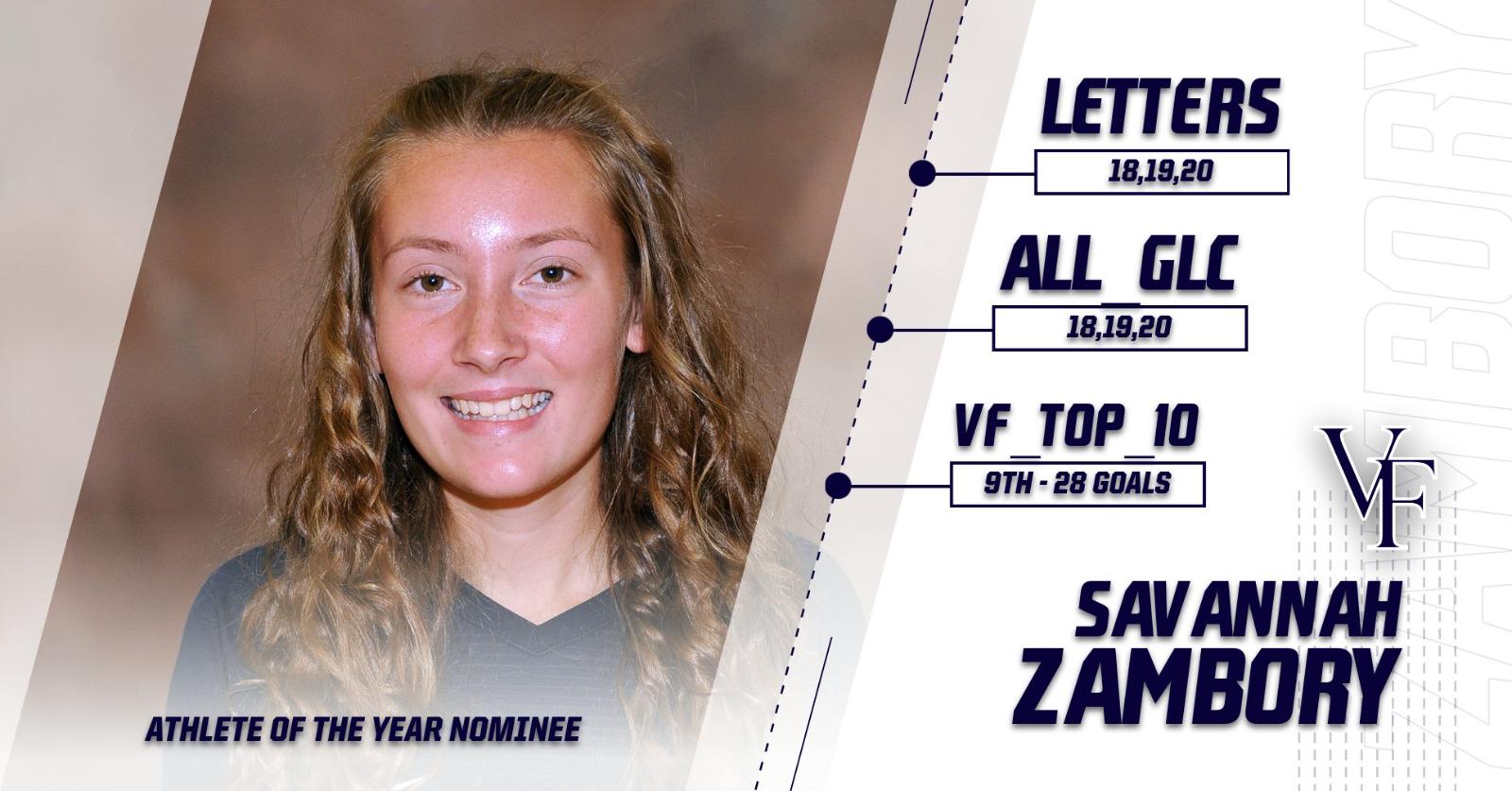 Athlete of the Year Nominee – Savannah Zambory