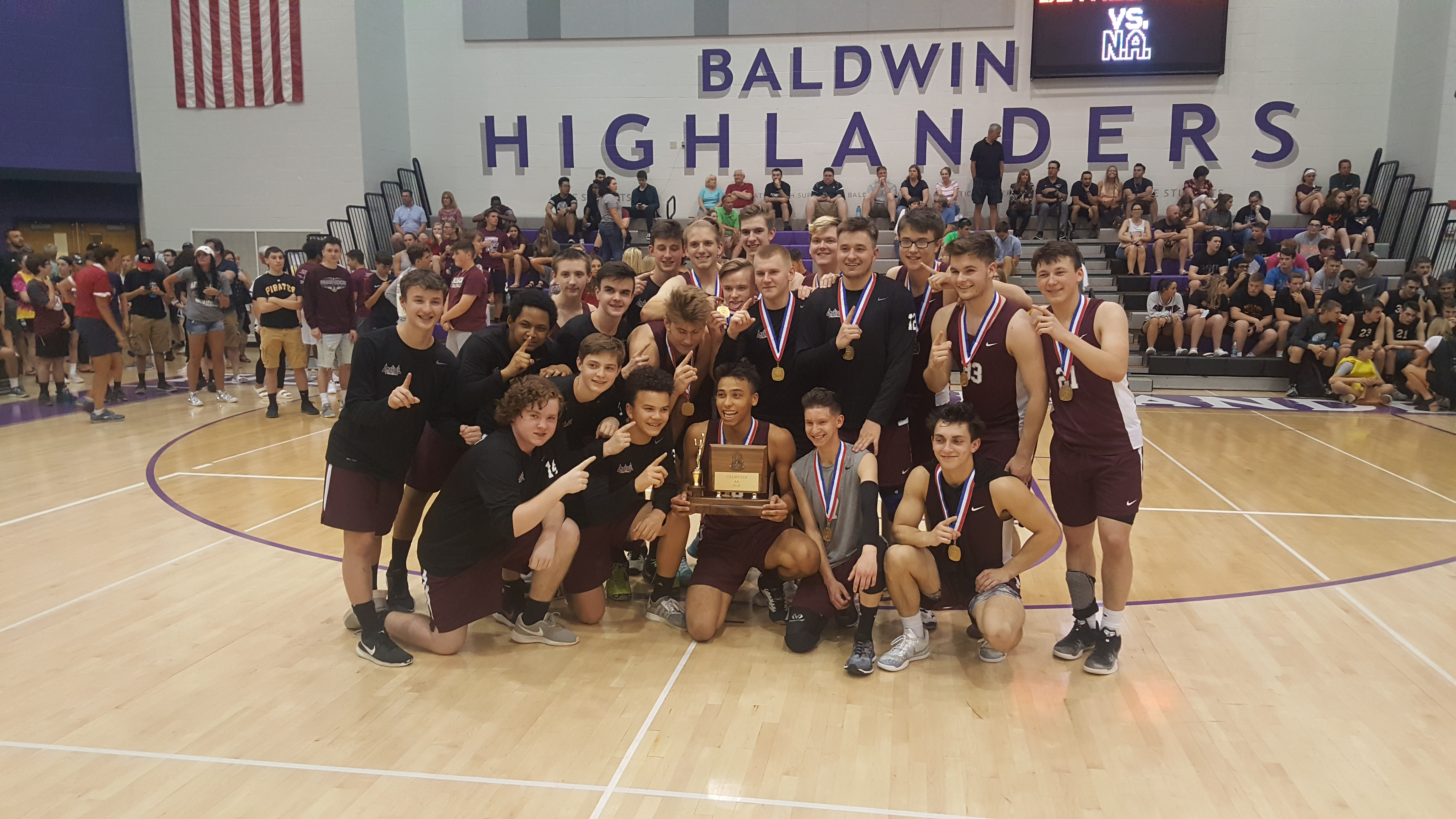 Boys Volleyball Wins WPIAL Championship
