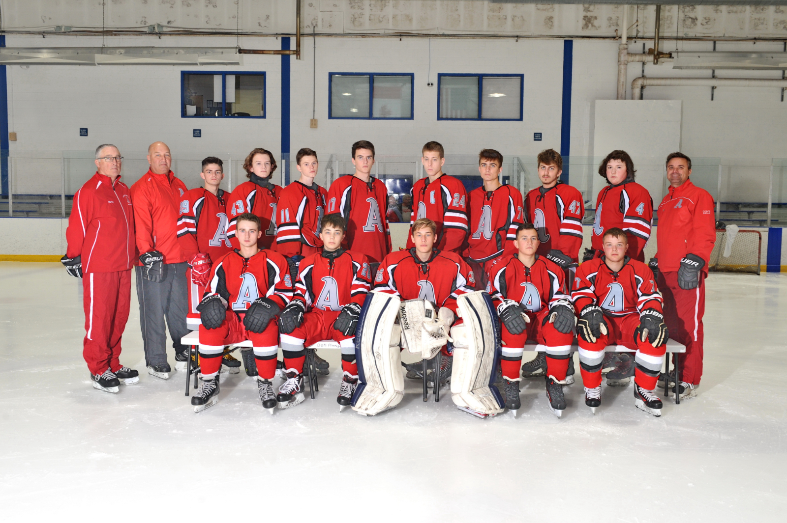 2019 – 2020 Ambridge Varsity Hockey Team