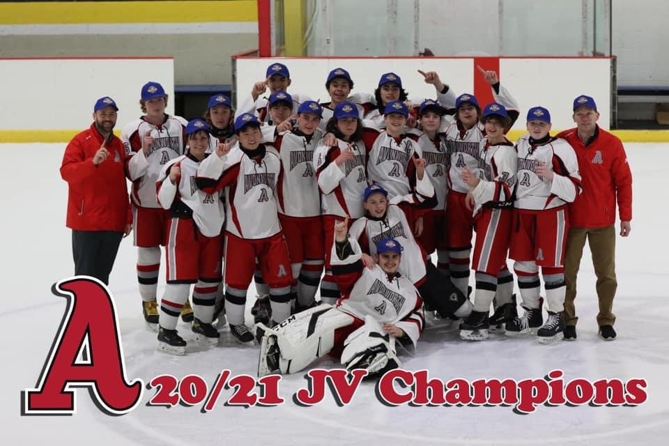 Ambridge/Avonworth JV Hockey team wins the 2021 Penguins Cup Championship…!!!!