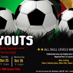 PMA Girls Soccer Tryouts Oct 24th, 25th, and 26th