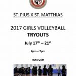 Girls Volleyball Tryouts July 17-21st